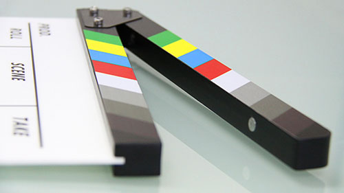 clapper board laying flat